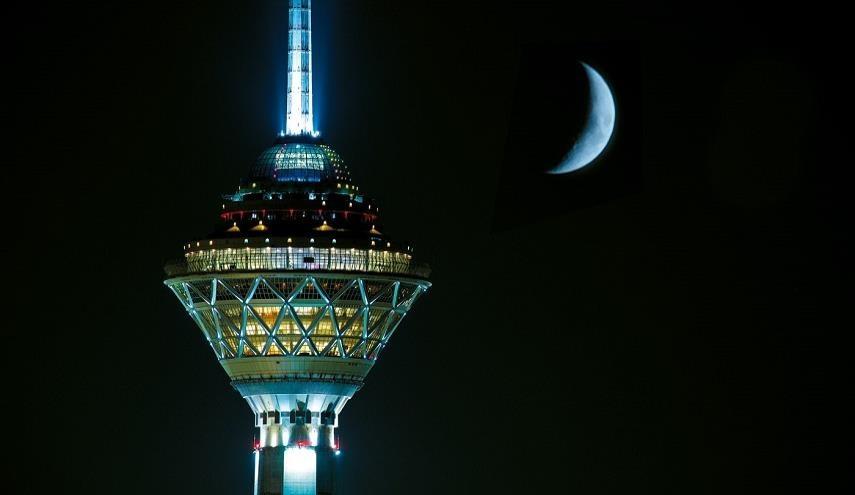 برج میلاد در شب